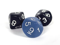 a set of 10 sided roleplaying dice