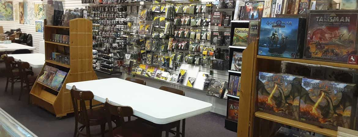 board games, card games, roleplaying games, minatures
