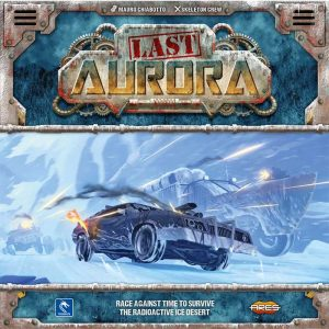 an armored automobile races across a frozen wasteland