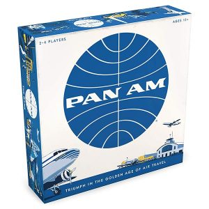 board game with pan am logo and airplanes