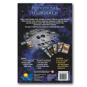 race for the galaxy card game back of box
