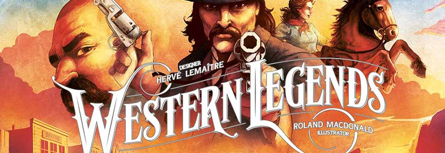board game artwork, cowboy with a sixgun, cowgirl on a horse